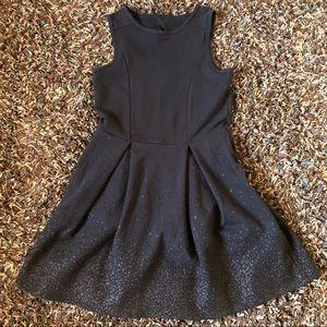 Abercrombie Kids Sparkle Black Dress Size 7/8
